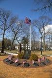 11 septembre mémorial avec des colonnes de site de World Trade Center dans Rockway est Images libres de droits