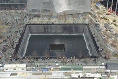 11 septembre mémorial infini de piscine Images libres de droits