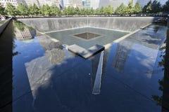 11 septembre mémorial - New York City, Etats-Unis Photos stock