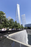 11 septembre mémorial - New York City, Etats-Unis Images stock