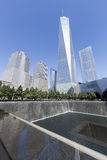 11 septembre mémorial - New York City, Etats-Unis Images libres de droits