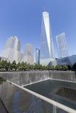 11 septembre mémorial - New York City, Etats-Unis Images libres de droits