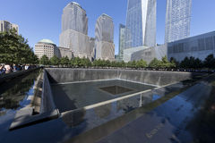 11 septembre mémorial - New York City, Etats-Unis Photo stock
