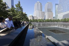 11 septembre mémorial - New York City, Etats-Unis Image stock