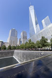 11 septembre mémorial - New York City, Etats-Unis Photos stock