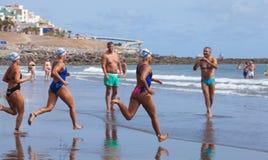 13 septembre 2014, mamie bain de Canaria, mer Photographie stock