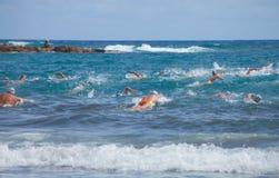 13 septembre 2014, mamie bain de Canaria, mer Photos libres de droits