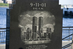 11 septembre monument, New York City Image stock