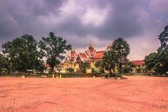 26 septembre 2014 : Palais dans ce Luang, Vientiane, Laos Photographie stock libre de droits