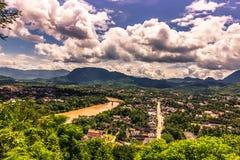 20 septembre 2014 : Panorama de Luang Prabang, Laos Image libre de droits