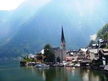 4 SEPTEMBRE 2014 - Port de Hallstadt, Autriche Photo stock