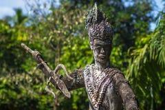 26 septembre 2014 : Statue en pierre bouddhiste en parc de Bouddha, Laos Image stock