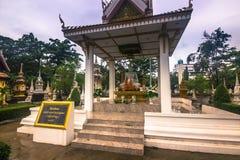 25 septembre 2014 : Temple bouddhiste à Vientiane, Laos Photographie stock libre de droits
