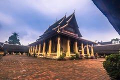 25 septembre 2014 : Temple bouddhiste de Sisaket à Vientiane, Laos Images stock
