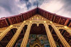 20 septembre 2014 : Temple de Wat Manorom dans Luang Prabang, Laos Images stock