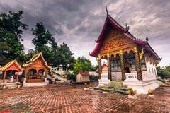 21 septembre 2014 : Temples dans l'interdiction Xang Hai, Laos Image libre de droits