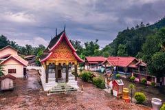 21 septembre 2014 : Temples dans l'interdiction Xang Hai, Laos Images stock