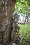 14 septembre 2014 - un des éléments endommagés ornent le temple du TR Photos libres de droits