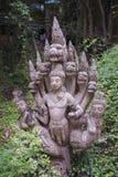14 septembre 2014 - un des éléments endommagés ornent le temple du TR Photos stock