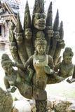 14 septembre 2014 - un des éléments endommagés ornent le temple du TR Photographie stock libre de droits