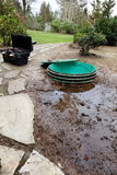 Septic system problems Stock Photos
