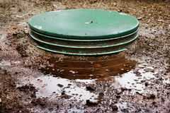 Septic system problems Royalty Free Stock Photos