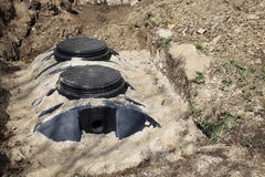 Septic Tank Domestic Royalty Free Stock Photos