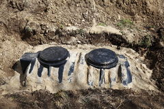 Septic Tank In Ground Stock Image