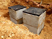 Septic tank inspection hatch Royalty Free Stock Images