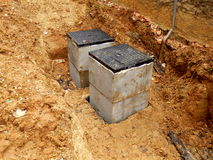 Septic tank inspection hatch Stock Image
