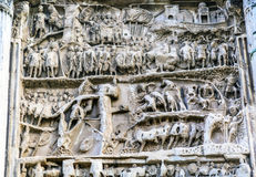 Septimius Severus Arch Roman Forum Rome Italië Stock Afbeeldingen
