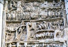 Septimius Severus Arch Roman Forum Rome Italien Arkivbilder