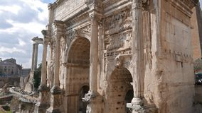 Septimius Severus Arch. Rome, Italy stock footage