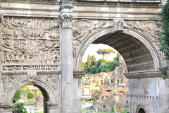 Septimius Severus Foro Romano The Roman Forum Rome Stock Photos