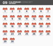 septyczny ustawiać kalendarzowe ikony Daktylowy i czasie 2018 rok ilustracji