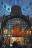 Sepulcher santo della chiesa interna Fotografia Stock Libera da Diritti