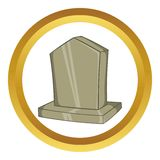 Sepulchral monument vector icon Royalty Free Stock Image