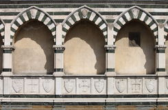 Sepulchral niches in Florence. Sepulchral niches called Avelli in Santa Maria Novella church in Florence, Italy royalty free stock photography