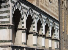 Sepulchral niches in Florence. Sepulchral niches called Avelli in Santa Maria Novella church in Florence, Italy stock photo