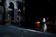 sepulchre молитве jer церков святейший Стоковые Фотографии RF