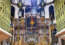 Sepulchre. Details of the edicule at the Church of the Holy Sepulchre in Jerusalem, Israel Stock Images