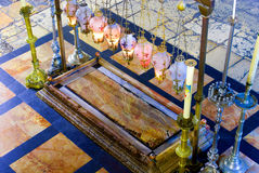 Sepulchre of Jesus Christ in the church of the holy sepulchre Stock Photos