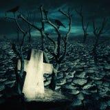 Sepulcro abandonado en el desierto misterioso frecuentado Fotografía de archivo