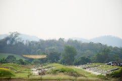 Sepulcro chino en el tiempo del festival de Qingming en Ratchaburi Tailandia Fotografía de archivo libre de regalías