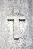 Sepulcro cruzado envejecido Imagen de archivo libre de regalías
