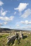 Sepulcro de cuernos de la galería en Arran en Escocia Imagen de archivo