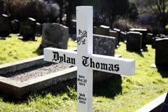 Sepulcro de Dylan Thomas Imágenes de archivo libres de regalías