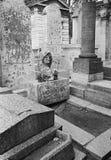 Sepulcro de Jim Morrison, París, Francia 1987 Foto de archivo