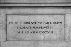 Sepulcro de Maquiavelo imagen de archivo