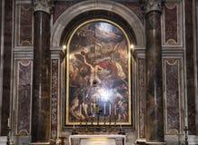 Sepulcro de papa Juan Paul 2 en la basílica del santo Peterr, Ciudad del Vaticano Fotos de archivo libres de regalías